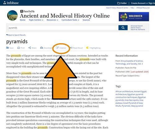 mla formatted citation